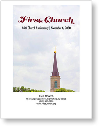 Church Directory  Cover sample showing a simple tag line below the church name
