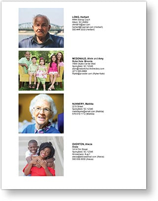 Instant Church Directory Families Details Image