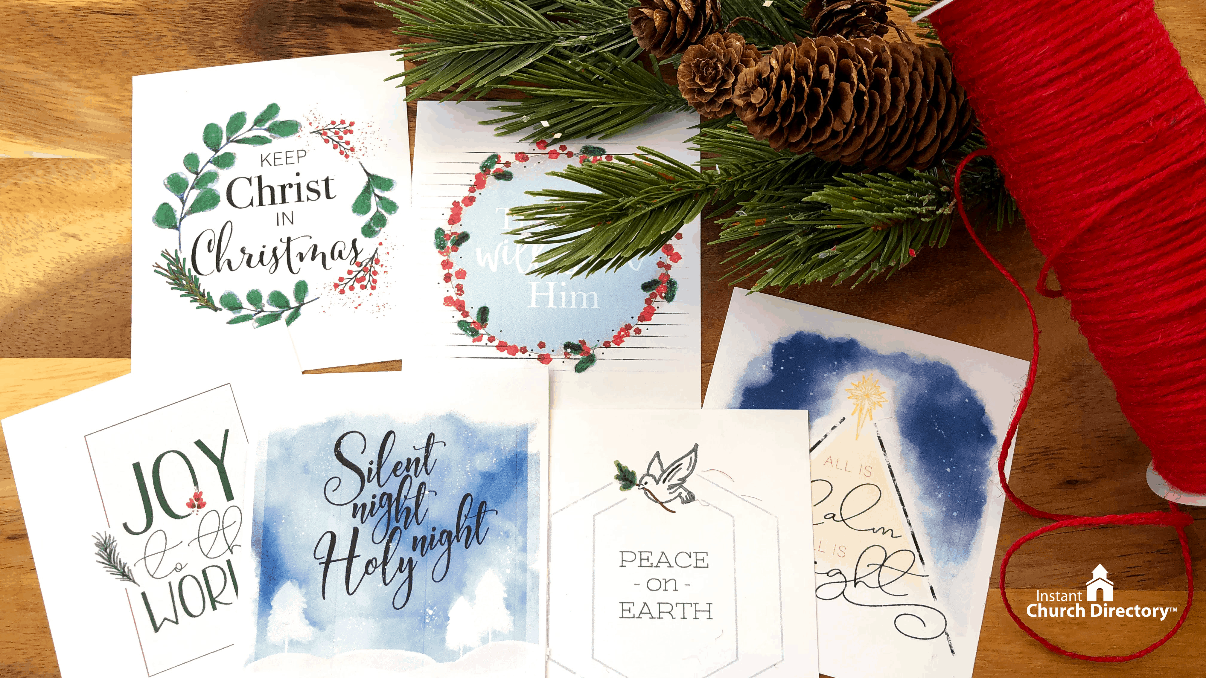 Christmas Watercolor Scripture Cards For Churches