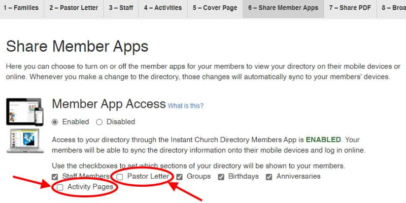 Church Directory Share Member Apps