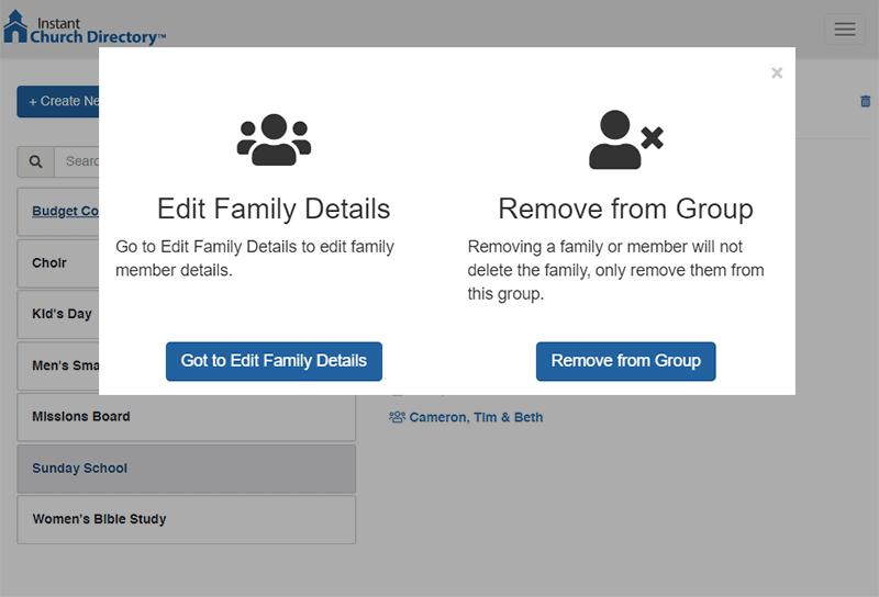 Screenshot Of Edit Group Members
